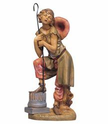 Picture of Shepherd with Stick cm 30 (12 Inch) Fontanini Nativity Statue hand painted Plastic