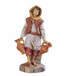 Picture of Shepherd with Jugs cm 30 (12 Inch) Fontanini Nativity Statue hand painted Plastic
