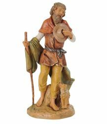 Picture of Shepherd with Dog cm 30 (12 Inch) Fontanini Nativity Statue hand painted Plastic