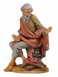Picture of Shepherd with Fire cm 30 (12 Inch) Fontanini Nativity Statue hand painted Plastic