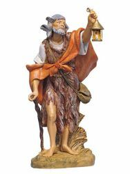Picture of Shepherd with Lantern cm 30 (12 Inch) Fontanini Nativity Statue hand painted Plastic