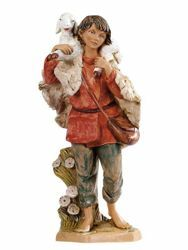 Picture of Shepherd with Sheep cm 30 (12 Inch) Fontanini Nativity Statue hand painted Plastic
