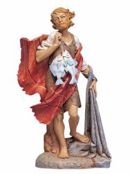 Picture of Shepherd with Fishes cm 30 (12 Inch) Fontanini Nativity Statue hand painted Plastic