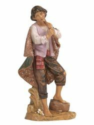Picture of Shepherd with Flute cm 30 (12 Inch) Fontanini Nativity Statue hand painted Plastic