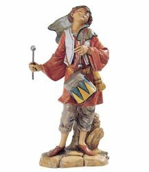 Picture of Shepherd with Drum cm 30 (12 Inch) Fontanini Nativity Statue hand painted Plastic
