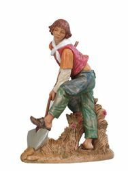 Picture of Shepherd with Shovel cm 30 (12 Inch) Fontanini Nativity Statue hand painted Plastic