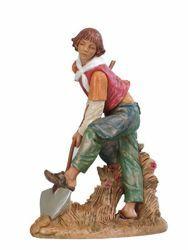 Immagine di Pastore con Vanga cm 30 (12 Inch) Presepe Fontanini Statua in Plastica dipinta a mano