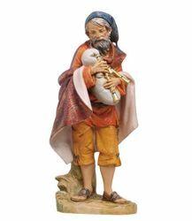 Imagen de Pastor con Gaita cm 30 (12 Inch) Belén Fontanini Estatua en Plástico pintada a mano