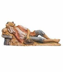 Imagen de Pastor dormido cm 30 (12 Inch) Belén Fontanini Estatua en Plástico pintada a mano