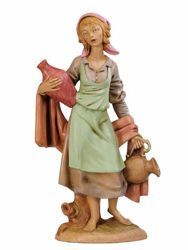 Picture of Shepherdess with Jugs cm 30 (12 Inch) Fontanini Nativity Statue hand painted Plastic