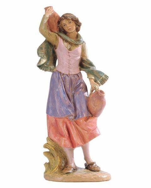 Imagen de Pastora con Jarras cm 30 (12 Inch) Belén Fontanini Estatua en Plástico pintada a mano