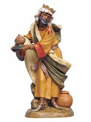 Picture of Wise King Balthazar Standing cm 30 (12 Inch) Fontanini Nativity Statue hand painted Plastic