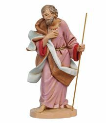 Picture of Saint Joseph cm 30 (12 Inch) Fontanini Nativity Statue hand painted Plastic