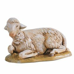 Picture of Sitting Sheep cm 45 (18 Inch) Fontanini Nativity Statue hand painted Plastic