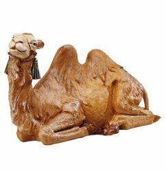 Imagen de Camello sentado cm 45 (18 Inch) Belén Fontanini Estatua en Plástico pintada a mano
