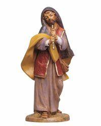 Imagen de Pastor con Flauta cm 45 (18 Inch) Belén Fontanini Estatua en Plástico pintada a mano
