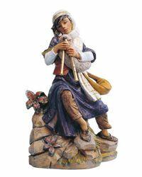 Imagen de Pastor con Gaita cm 45 (18 Inch) Belén Fontanini Estatua en Plástico pintada a mano