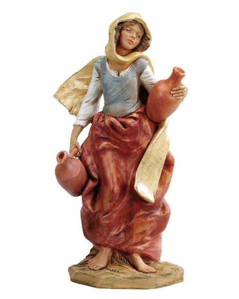 Immagine di Pastorella con Anfore cm 45 (18 Inch) Presepe Fontanini Statua in Plastica dipinta a mano