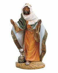 Picture of Wise King Balthazar Standing cm 45 (18 Inch) Fontanini Nativity Statue hand painted Plastic