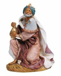 Picture of Wise King Caspar Standing cm 45 (18 Inch) Fontanini Nativity Statue hand painted Plastic