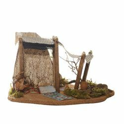Picture of Wise Kings Tent cm 12 (5 Inch) Fontanini Nativity Village in Wood, Cork, Moss - handmade