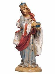 Picture of Wise King Melchior Standing cm 30 (12 Inch) Fontanini Nativity Statue hand painted Plastic