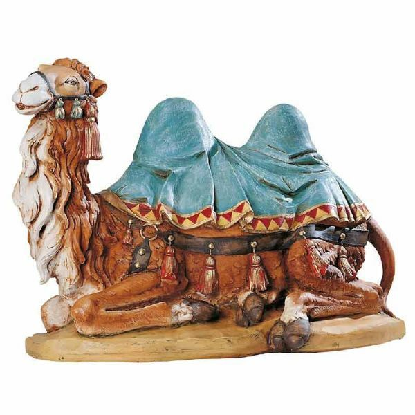 Picture of Sitting Camel cm 65 (27 Inch) Fontanini Nativity Statue for Outdoor use, hand painted Resin