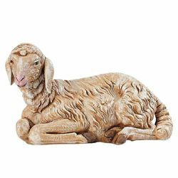 Picture of Sitting Sheep cm 65 (27 Inch) Fontanini Nativity Statue for Outdoor use, hand painted Resin