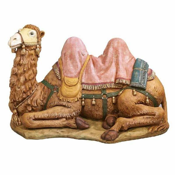 Picture of Sitting Camel cm 125 (50 Inch) Fontanini Nativity Statue for Outdoor use, hand painted Resin