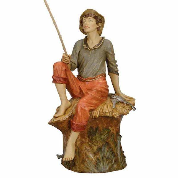 Imagen de Pescador cm 125 (50 Inch) Belén Fontanini Estatua para al Aire Libre en Resina pintada a mano