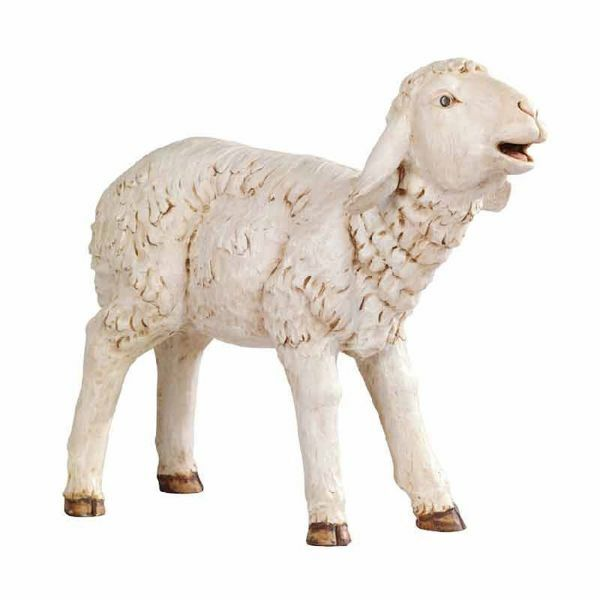 Picture of Lamb cm 180 (70 Inch) Fontanini Nativity Statue for Outdoor use, hand painted Resin