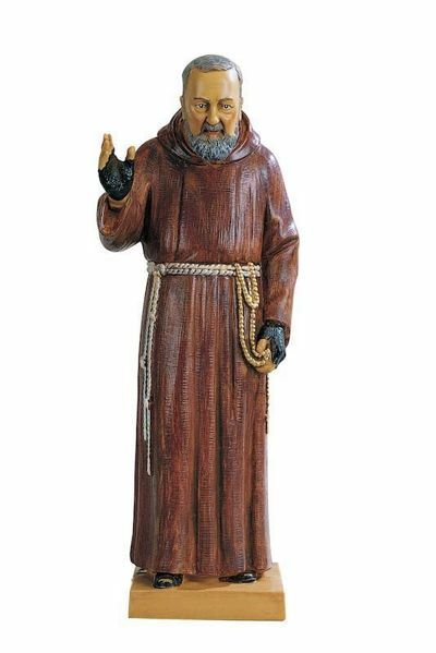 Picture of St. Padre Pio of Pietrelcina cm 30 (12 Inch) hand painted Plastic Fontanini Statue