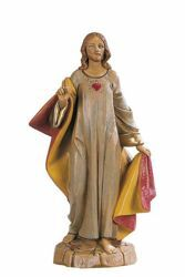 Picture of Sacred Heart of Jesus cm 31 (13 Inch) hand painted Plastic Fontanini Statue