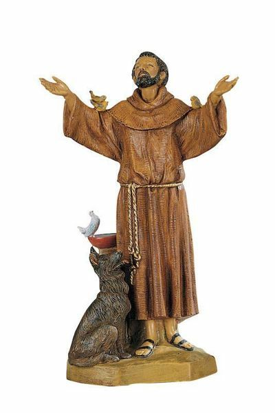 Picture of St. Francis of Assisi cm 31 (13 Inch) hand painted Plastic Fontanini Statue