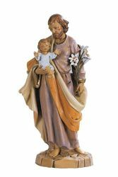 Picture of Saint Joseph cm 31 (13 Inch) hand painted Plastic Fontanini Statue