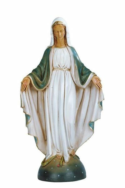 Picture of Mary Immaculate Conception cm 40 (16 Inch) hand painted Plastic Fontanini Statue