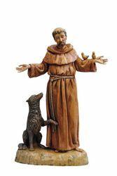 Immagine di San Francesco d'Assisi cm 40 (16 Inch) Statua Fontanini in Plastica dipinta a mano
