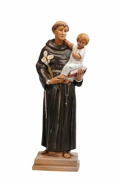 Picture of St. Anthony of Padua with Child cm 40 (16 Inch) hand painted Plastic Fontanini Statue