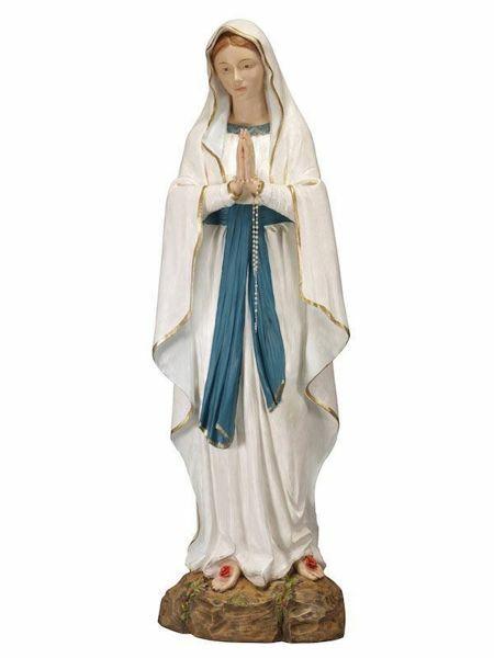 Imagen de Nuestra Señora de Lourdes cm 174 (68 Inch) Estatua Fontanini en Resina pintada a mano para uso al aire libre