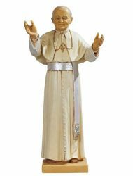 Picture of Pope John Paul II cm 46 (18 Inch) hand painted Resin Fontanini Statue for Outdoor Use