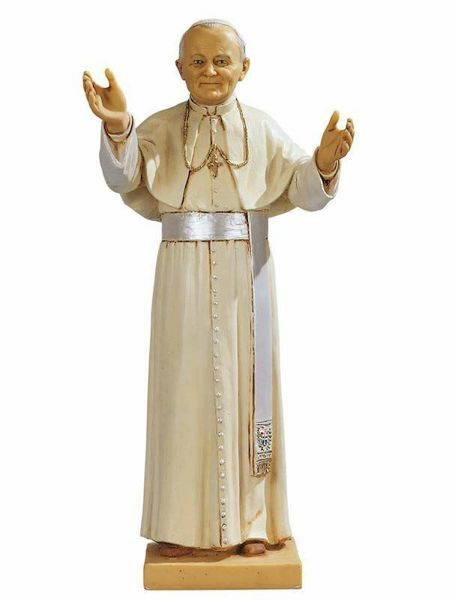 Picture of Pope John Pal II cm 46 (18 Inch) hand painted Resin Fontanini Statue for Outdoor Use