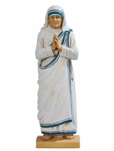 Picture of Saint Mother Teresa of Calcutta cm 47 (18 Inch) hand painted Resin Fontanini Statue for Outdoor Use