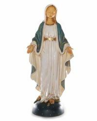 Picture of Mary Immaculate Conception cm 50 (20 Inch) hand painted Resin Fontanini Statue for Outdoor Use