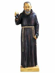 Picture of St. Padre Pio of Pietrelcina cm 50 (20 Inch) hand painted Resin Fontanini Statue for Outdoor Use