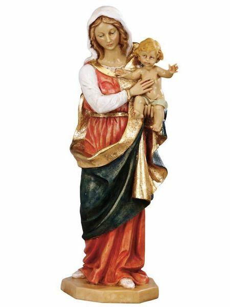 Imagen de Virgen con el niño cm 51 (20 Inch) Estatua Fontanini en Resina pintada a mano para uso al aire libre