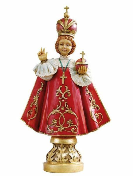 Picture of Baby Jesus of Prague cm 52 (20 Inch) hand painted Resin Fontanini Statue for Outdoor Use