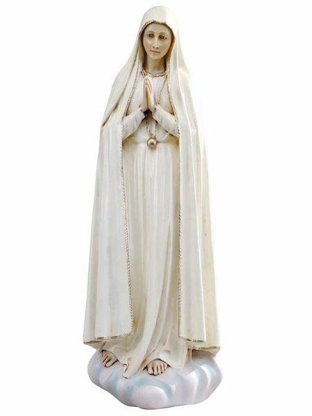 Immagine di Madonna di Fatima cm 52 (20 Inch) Statua Fontanini in Resina per esterno dipinta a mano