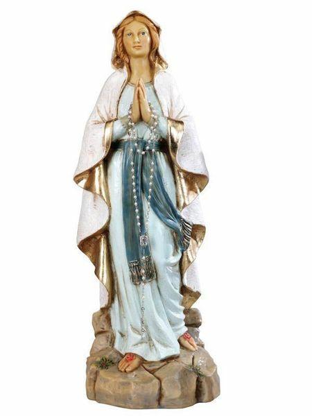 Madonna de Lourdes Resina 20 cm Estatua Religiosa