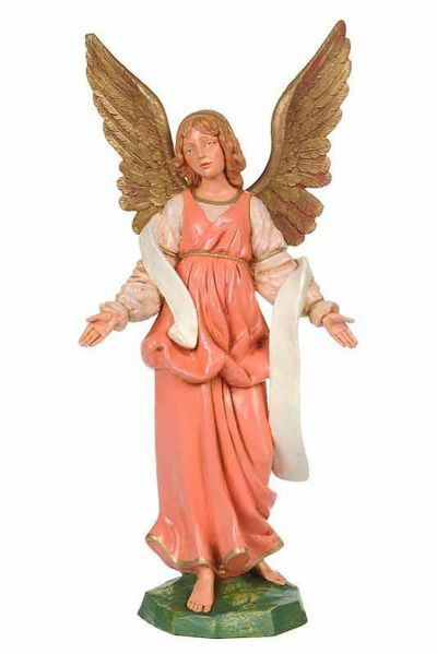 Picture of Standing Angel cm 30 (12 Inch) CLASSIC Fontanini Nativity Statue Traditional Colors Plastic