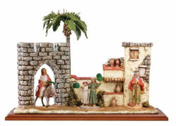 Picture of Palm Sunday cm 12 (5 Inch) Life of Christ Scene Fontanini Nativity Statue hand painted in Plastic (PVC)